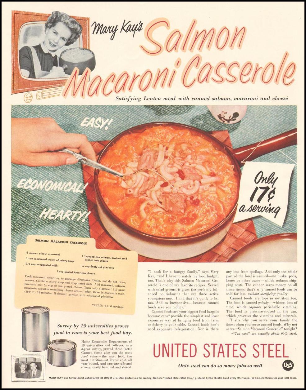 STEEL CANS LADIES' HOME JOURNAL 03/01/1954 p. 15
