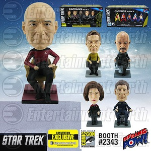 Star Trek: The Captains Monitor Mate Bobble Heads Set of 5 – Convention Exclusive