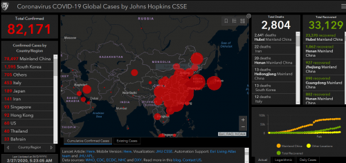 Live Map with Updates Coronavirus (COVID-19) situation | GoGeomatics