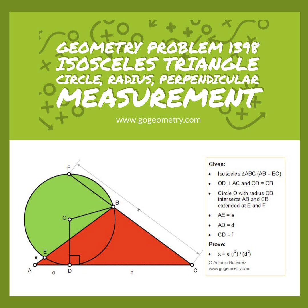 Geometry Problem Triangle Circumcircle Perpendiculars Angles Congruence Cyclic
