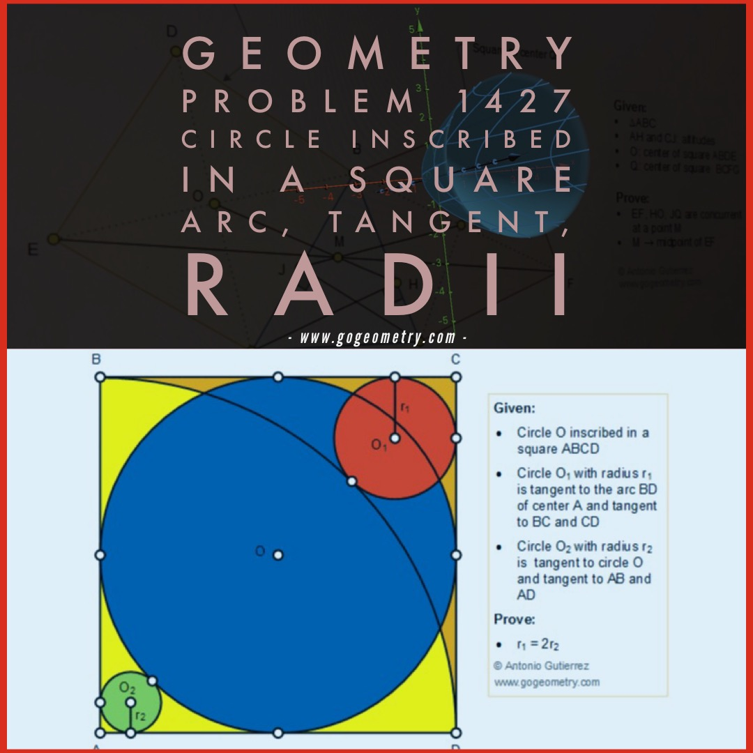 Geometry Problem Circle Inscribed In A Square Arc