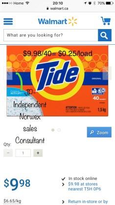 Tide Cost