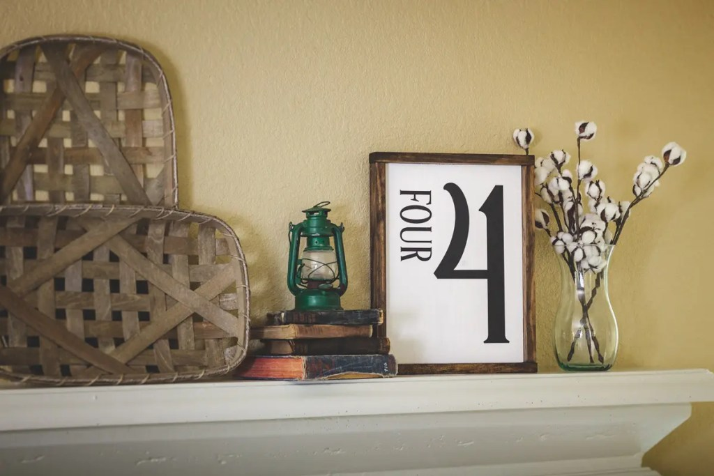Four Handmade Solid Wood Sign