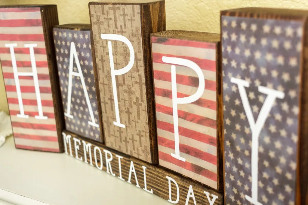 Memorial Day Handmade Solid Wood Sign