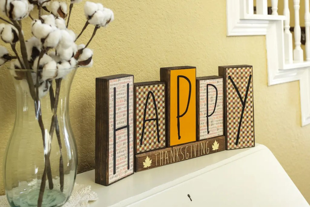 Thanksgiving Handmade Solid Wood Sign