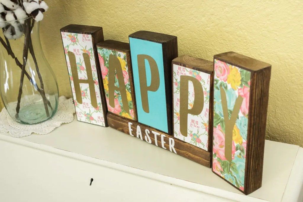 Easter Handmade Solid Wood Sign Decor