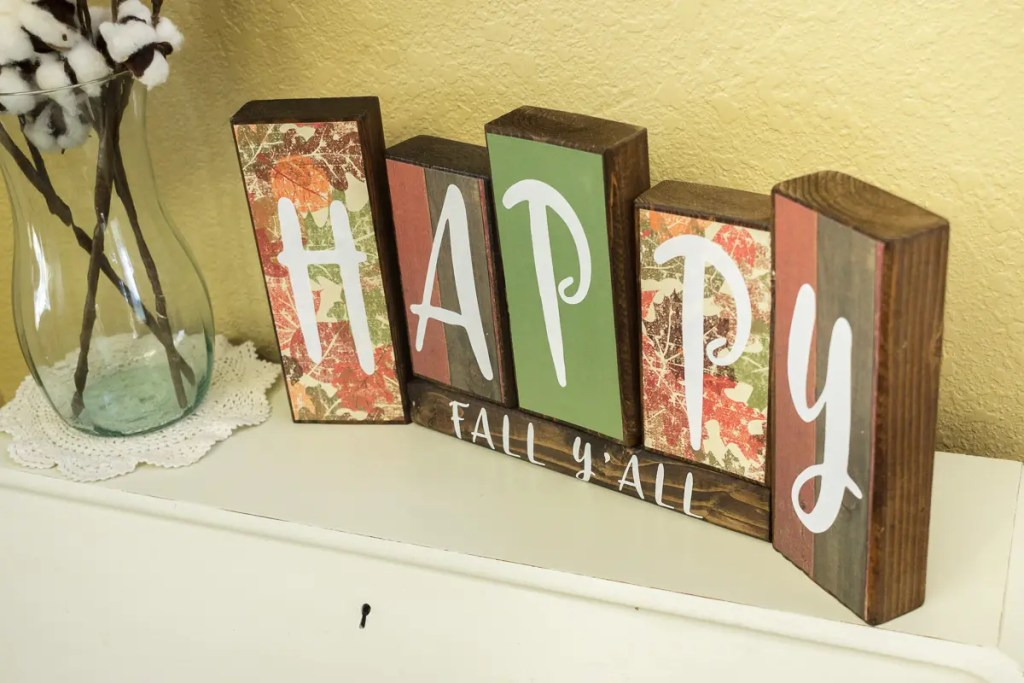 Fall Handmade Solid Wood Sign