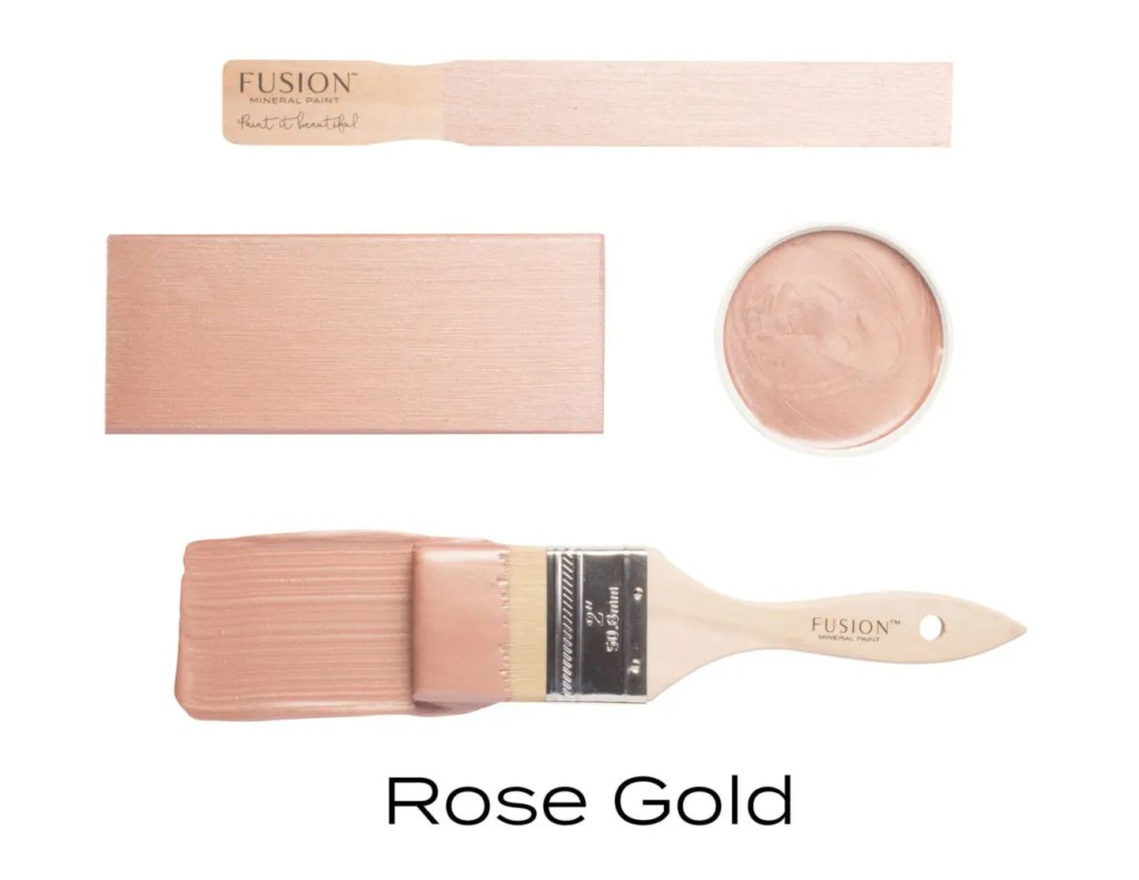 Fusion Mineral Paint Rose Gold Metallic