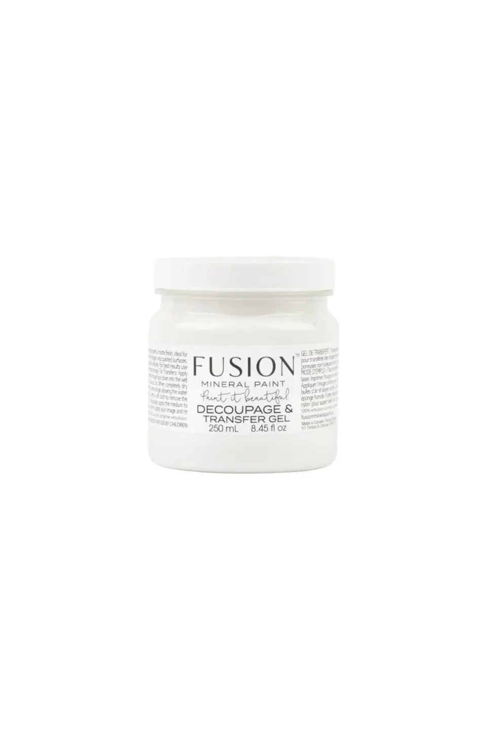 Fusion Mineral Paint Decoupage and Transfer Gel