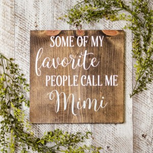 Grandmother Handmade Solid Wood Sign