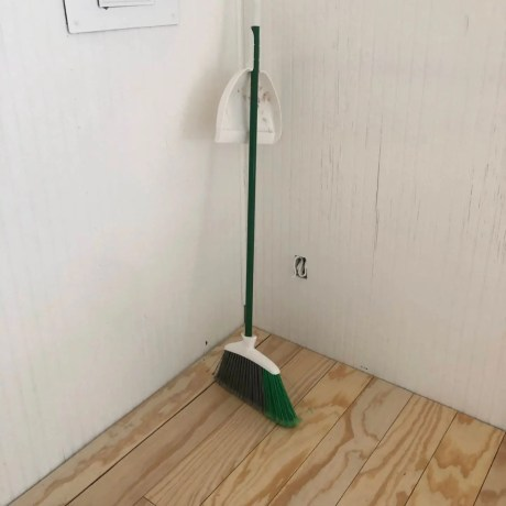 Sweeping Plywood Floors