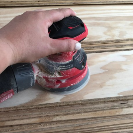 sanding Plywood for Floors