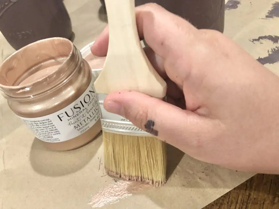 Mason jar painted with Fusion Mineral Paint
