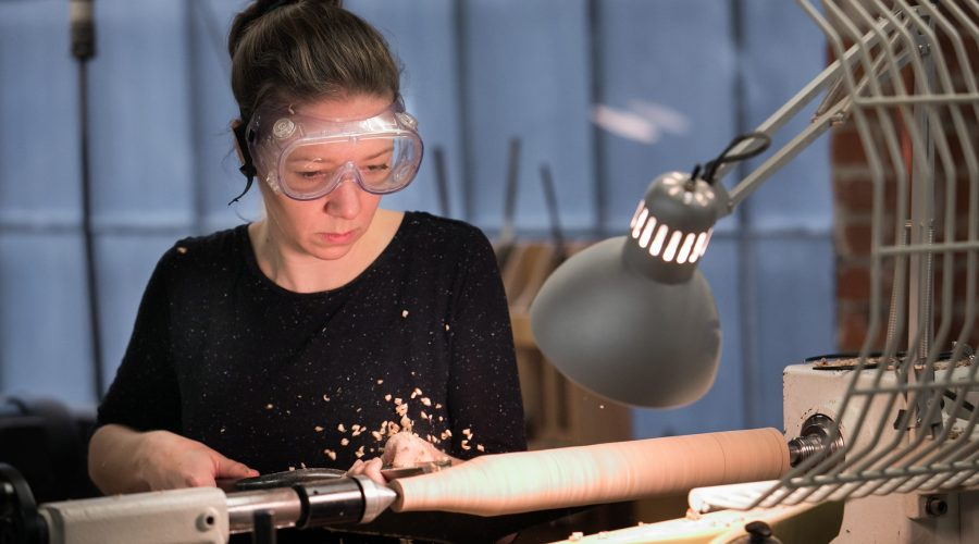 woodturning woman
