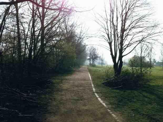 Hamburg: Laufstrecke Elbpark Entenwerder