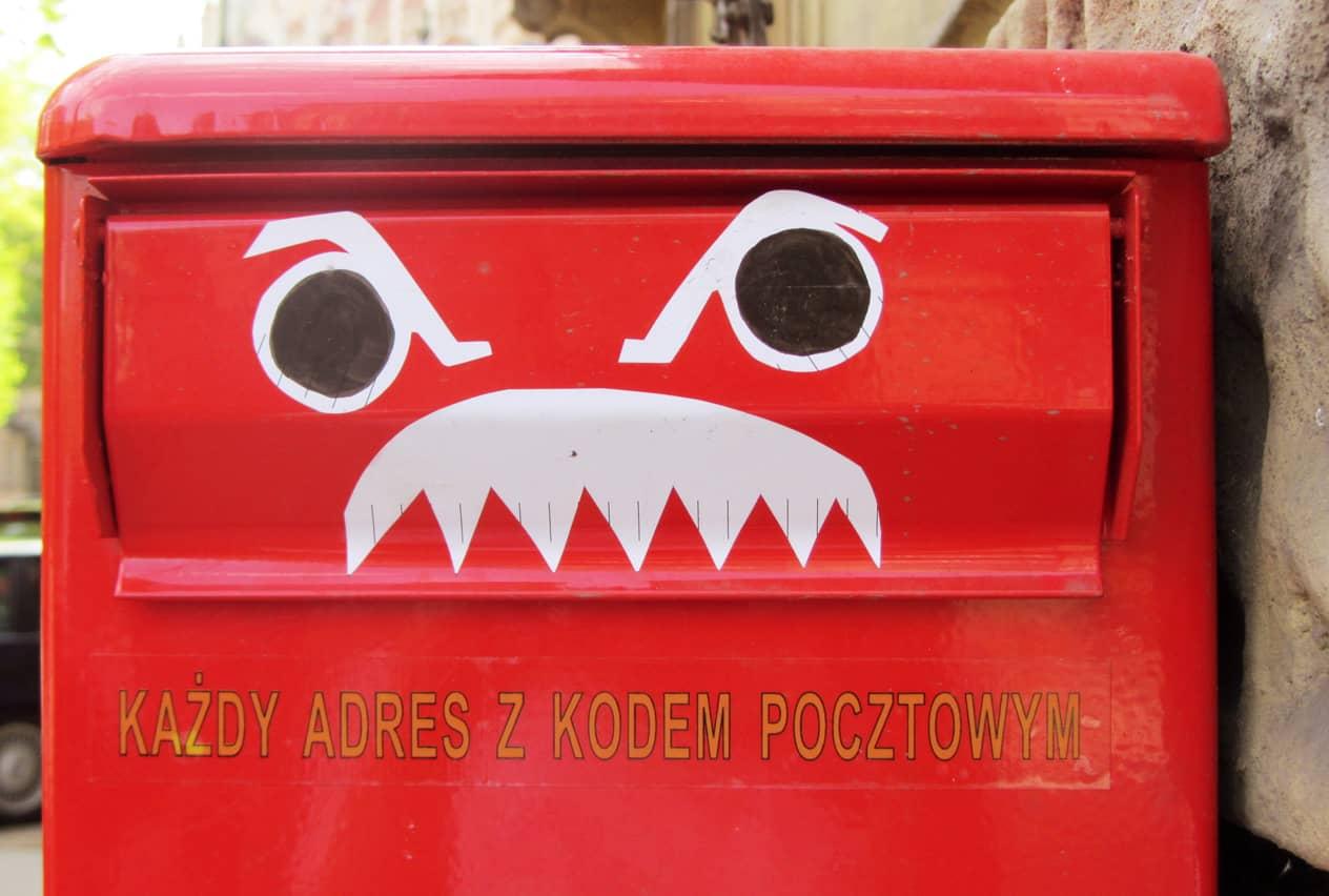 Bemalter Briefkasten in Krakau