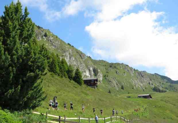 Strecke beim Aletsch Halbmarathon 2015