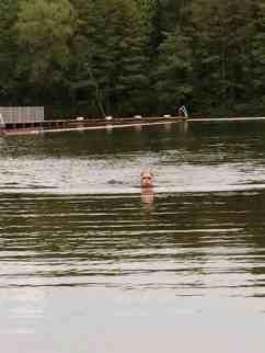 Schwimmsession im Strandbad Jungfernheide