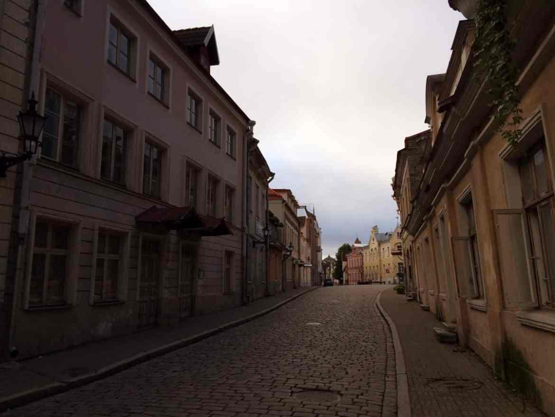 Laufen in der Altstadt Tallinn