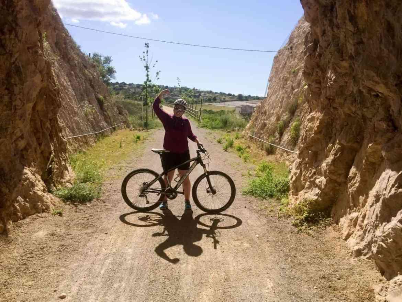 Unterwegs auf Radwanderweg Vía Verde