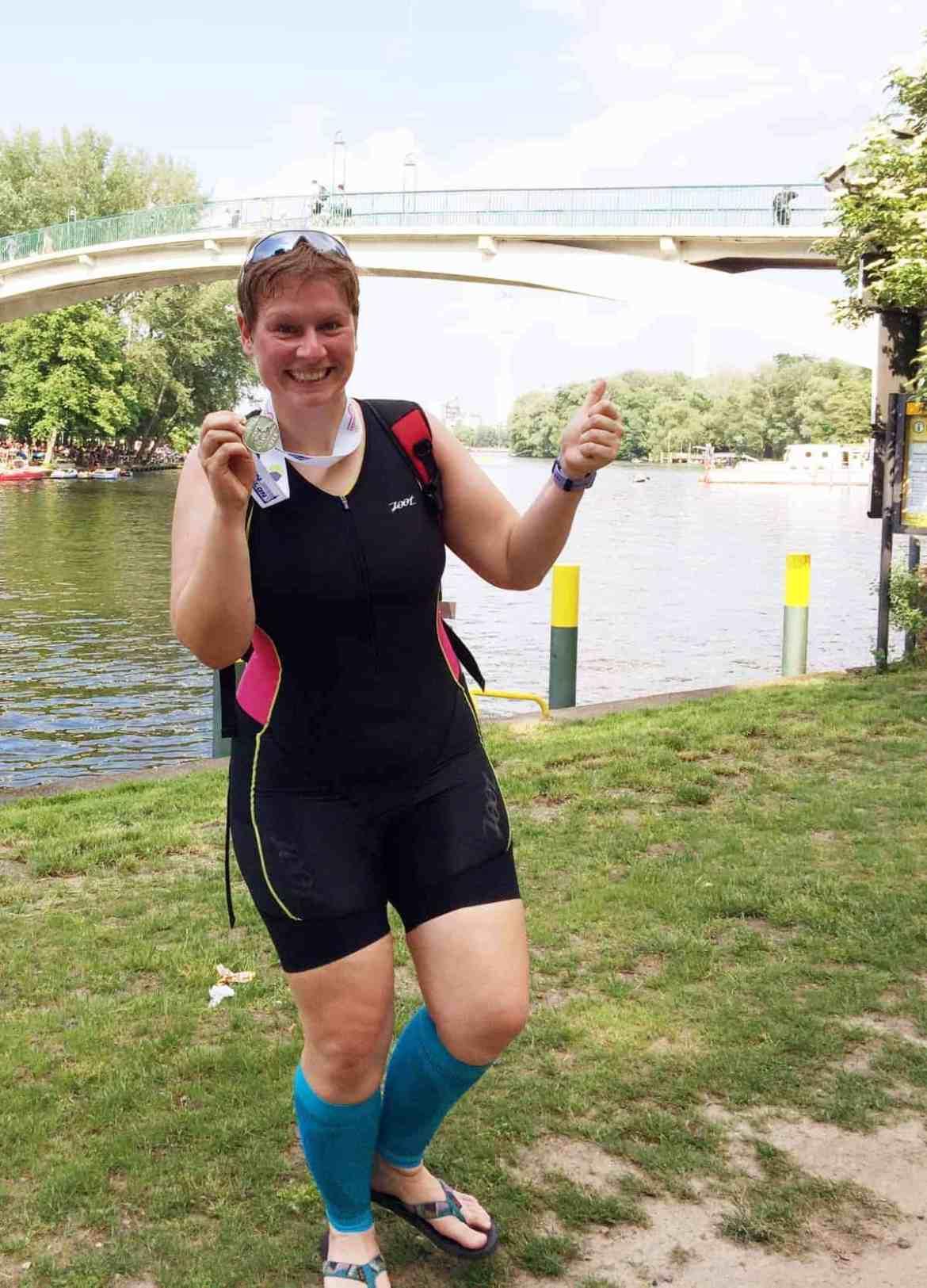 Mit Kompressionsstrümpfen beim Triathlon