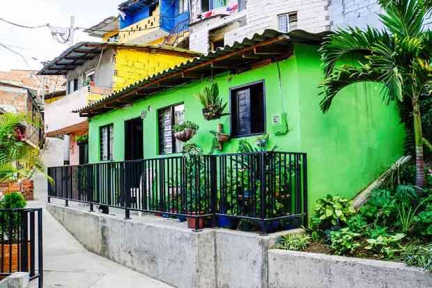 Haus in der Comuna 13 in Medellín