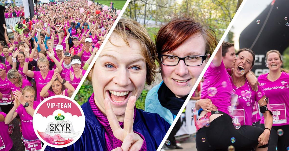 Mache mit beim Gewinnspiel und gewinne zwei Plätze in meinem Arla®Skyr VIP-Team beim BARMER Women's Run in Hamburg