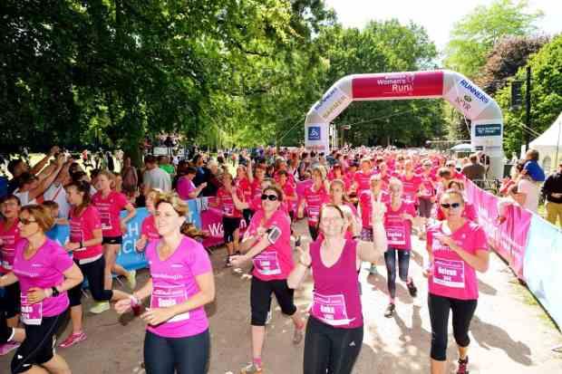 Start beim Women's Run Hamburg