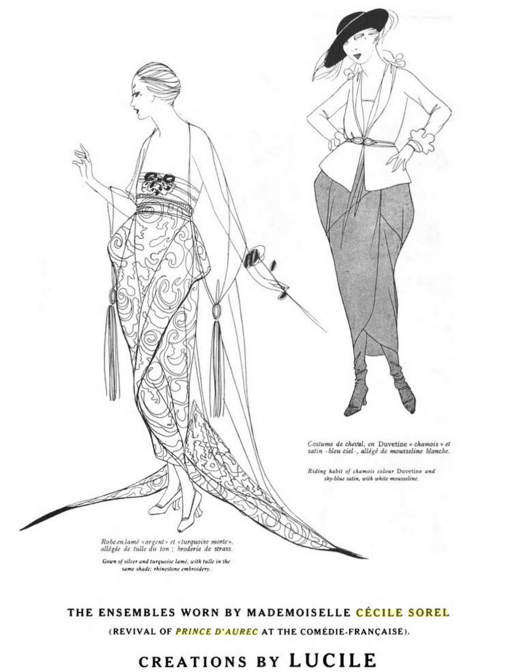 1920 (17 January issue date) Ensembles worn by Cécile