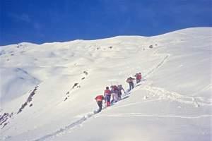 Grigna, in salita sul versante est del Grignone, 13.1.1974