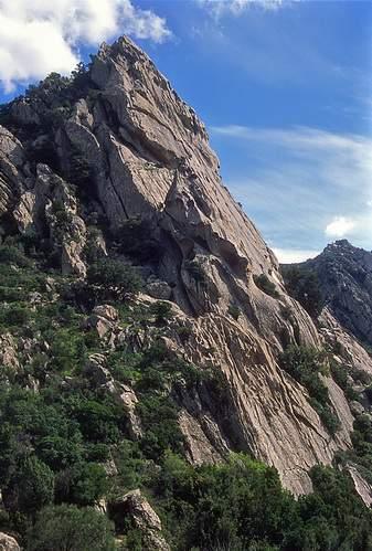 Parete nord della Punta Muzzone (M. Nieddu), 04.2004