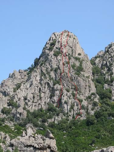 Sardegna, Monte Sempio, parete ovest