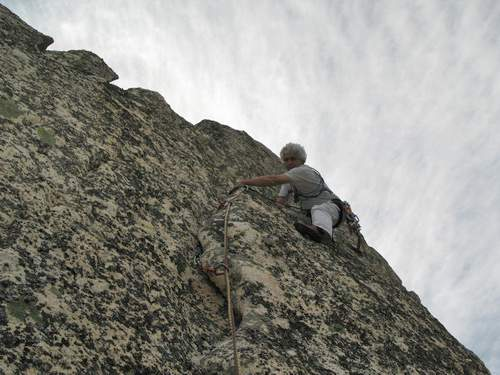 Sardegna, Monte Sempio, parete ovest, tentativo via diretta