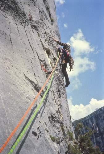 G. Miotti su Necronomicon (Gorges du Verdon, Provenza), 14.05.1980