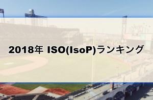 【野球】2018年ISO(IsoP)ランキング
