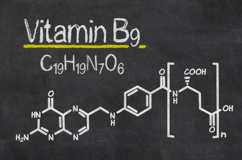 Vitamin B9 chemical formula