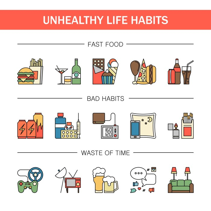 Unhealthy habits which decrease your lifetime