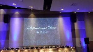 Projector screen Wedding DJ leeds