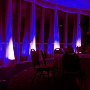Venue wall up lights for yorkshire weddings