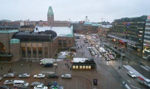 ヘルシンキ中央駅付近