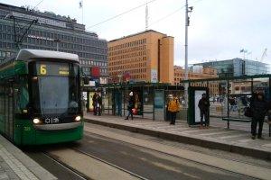 ヘルシンキ中央駅のトラム