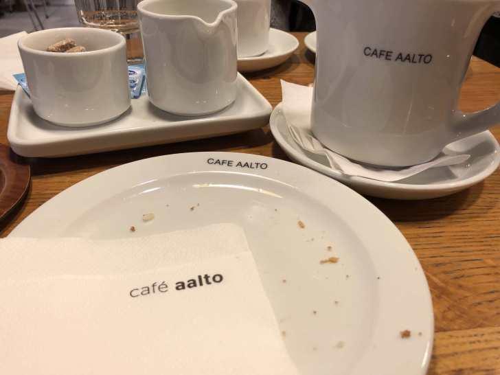 カフェ・アアルトで休憩終了
