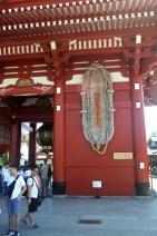 Giant waraji sandal on the gate