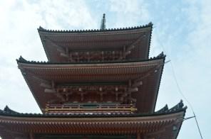 Kiyomizudera Pagoda close