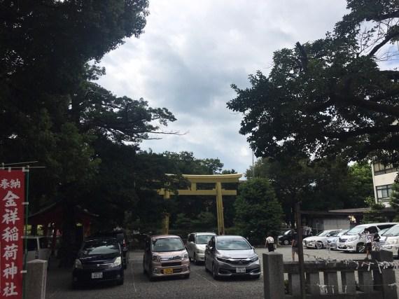 Parking lot at Kogane Shrine