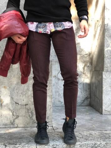 Pantaloni Paul Miranda Bordeaux