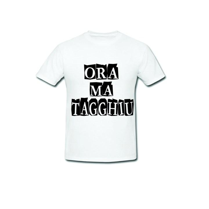 T shirt con scritta simpatica base bianca