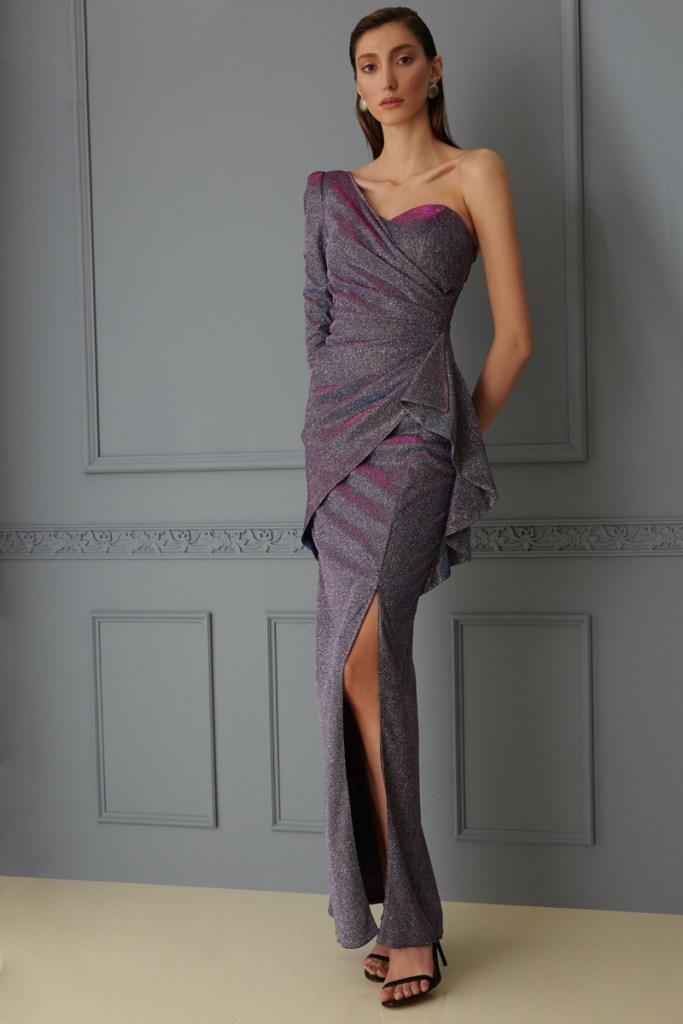 Vestito lungo elegante - abito glitterato