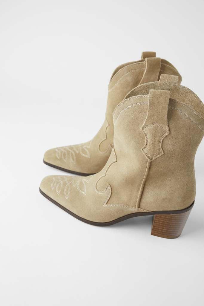 Zara - Stivali texani in suadde