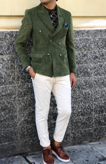 Spettacolari pantaloni in velluto bianco -  Paul Miranda - Gogolfun.it